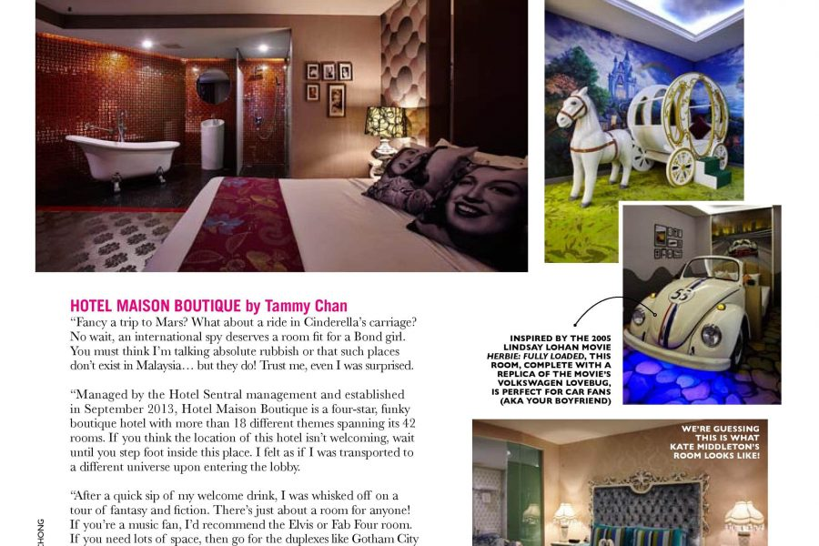 Magazine Promotion Hotel Maison Boutique
