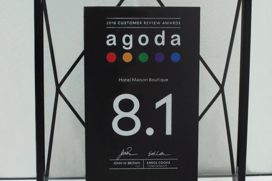 Hotel Maison Boutique Agoda Customer Review Awards 2018